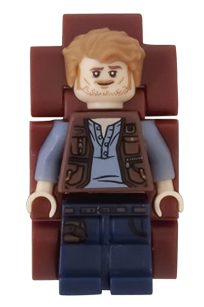 Reloj modificable infantil 8021261 de Jurassic World de LEGO con figurita de Owen: Amazon.es: Relojes