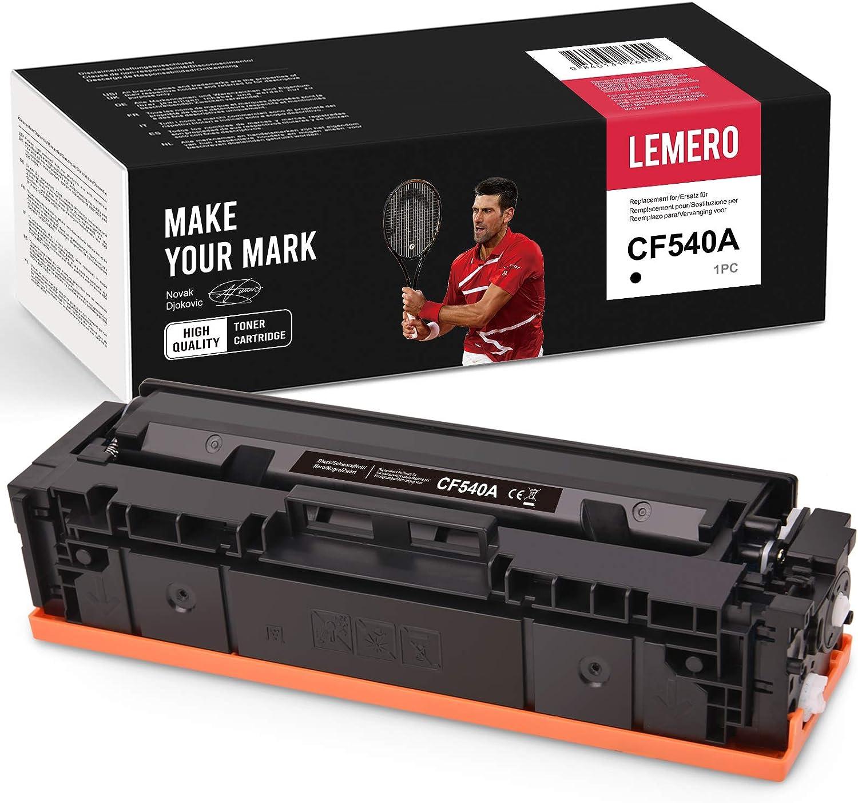 Lemero Kompatibel Toner Für Hp 203a Cf540a Für Hp Color Laserjet Pro M254 M254dw M254nw Mfp M281 M281cdw M281fdn M281fdw M280 M280nw Drucker Schwarz Bürobedarf Schreibwaren