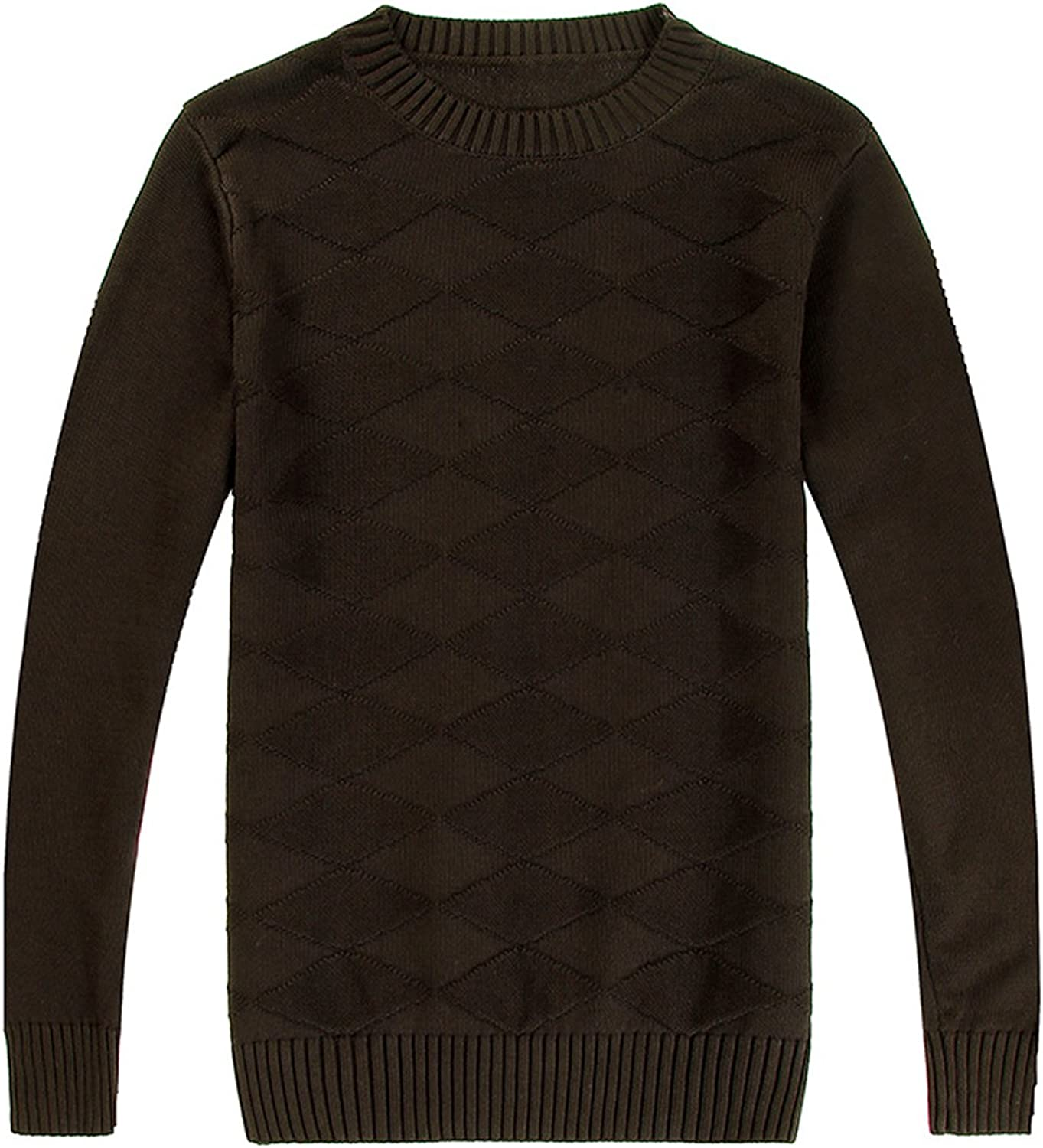 Only Faith Mens Round Collar Long Sleeve Knitted Sweater
