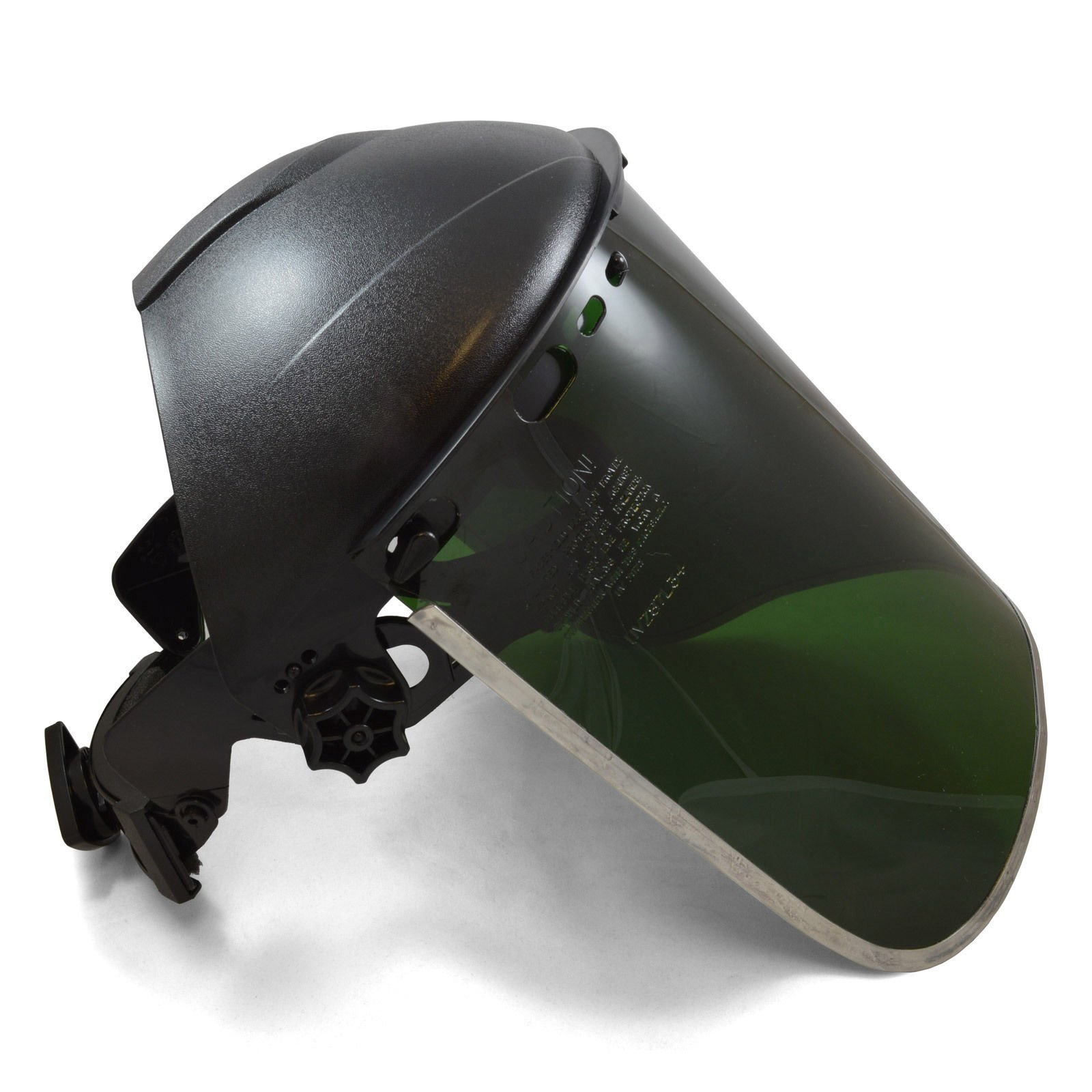 FIT Jackson Style Headgear and Dark Green Face Shield w/ Aluminum Rim