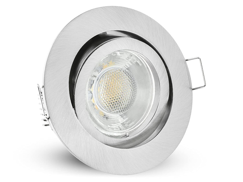 10x LED Decken Einbauleuchte rund schwenkbar weiß | Einbaustrahler Set mit 3W Spot warmweiß inkl. GU10 Fassung [Energieklasse A+] linovum