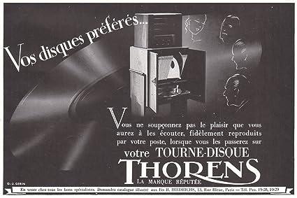 Amazon.com: Impresión 1937 AD tourne-disque Thorens ...