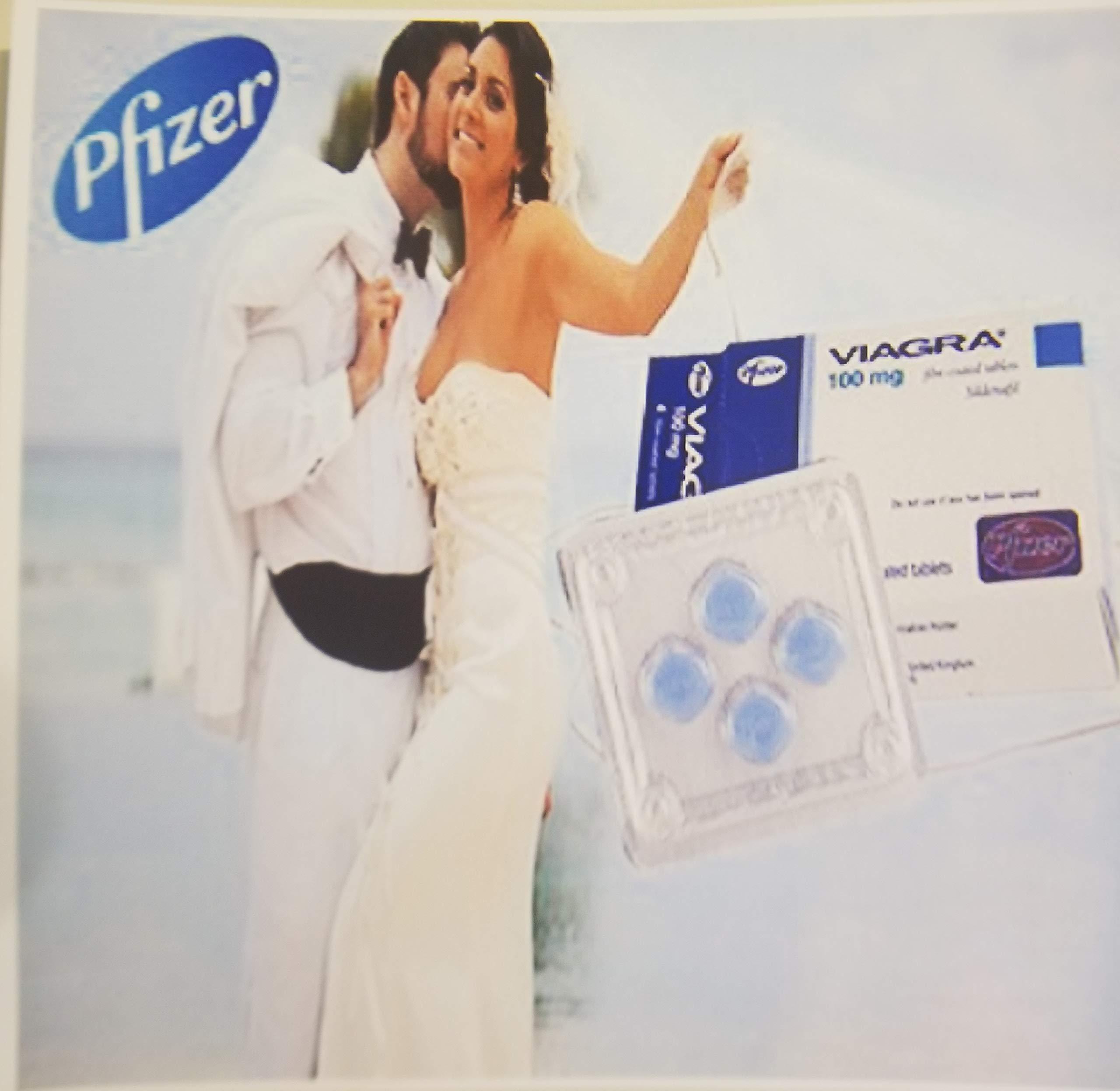 CnC Products 10 Pack Viagra Mens 100mg Pill Print