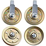 """Heavy Duty Garage Door 3"""" Pulley Kits, 3/8"""" bore 200LB Load Rating, Kits Including 2 Stationary Pulleys and 2 Rear Wheel Pull"""