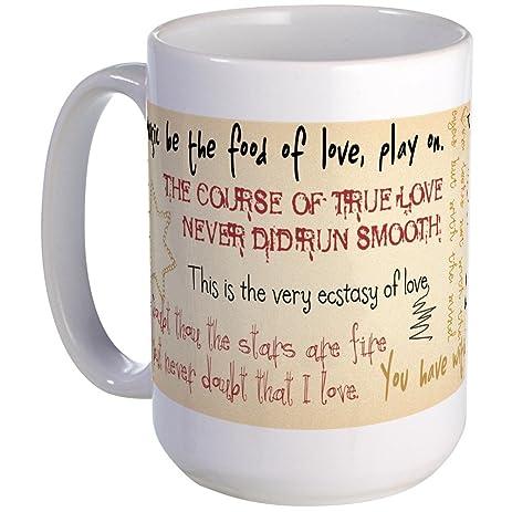Cafepress Shakespeare Love Quotes Large Mug Coffee Mug Large  Oz White