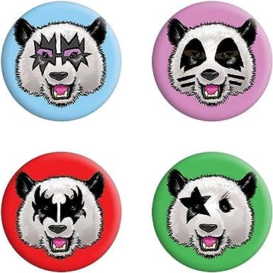 Grindstore - Pack de chapas Kiss Panda (Talla Única) (Multicolor): Amazon.es: Ropa y accesorios