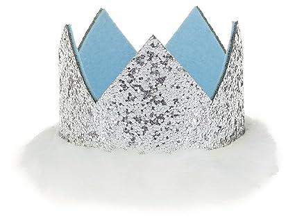GEMVIE Sombrero Corona Bebé Niña Elástico Brillante para ...