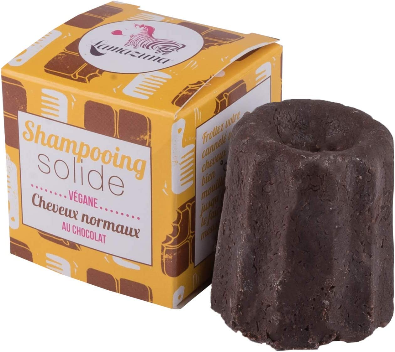 Lamazuna Solid Chocolate Shampoo for Normal Hair 1 Pack 60g