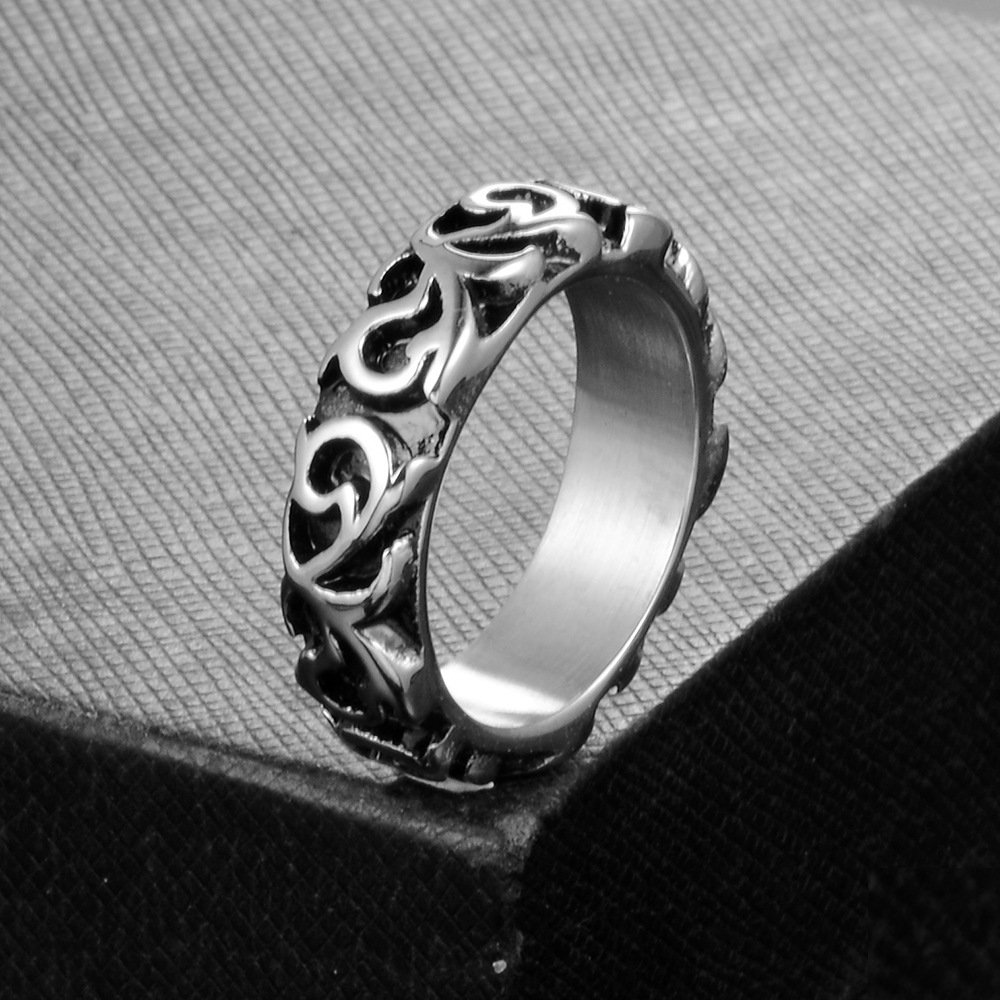MCSAYS Stainless Steel Ring Benedict Exorcism Catholic Cross Ring Gifts