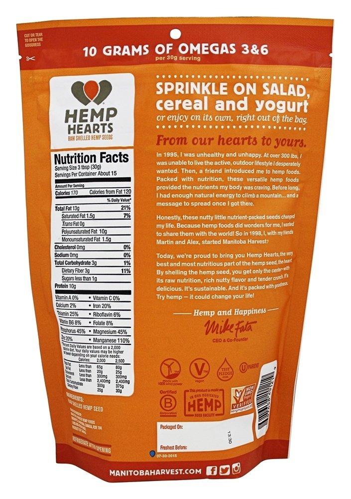 Manitoba Harvest - Hemp Hearts Natural Raw Shelled Hemp Seeds 454 g. - 1 lb