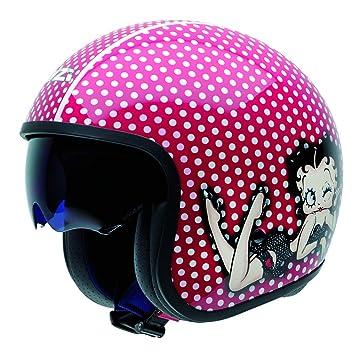 NZI Rolling3 Sun Betty Boop Dots Casco De Moto(Rojo,X-Pequeña)