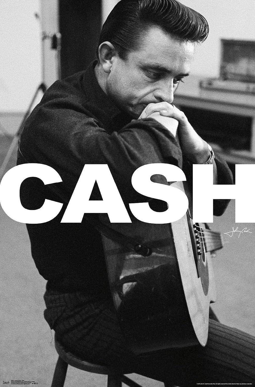 "Trends International Johnny Cash, 22.375"" x 34"", Unframed Version"
