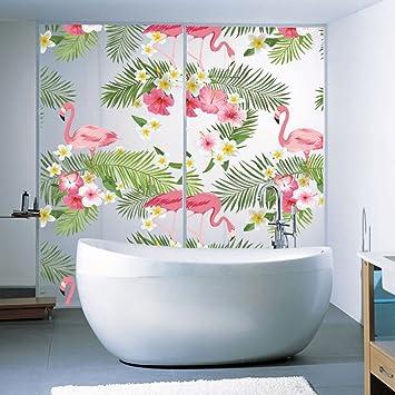 JUNMAONO Flamingo Palmblätter Wandaufkleber/Wandgemälde/Wand Poster ...