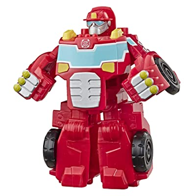"Transformers Playskool Heroes Rescue Bots Academy Heatwave The Fire-Bot Converting Toy, 4.5"" Action Figure, Toys for Kids Ages 3 & Up: Toys & Games"