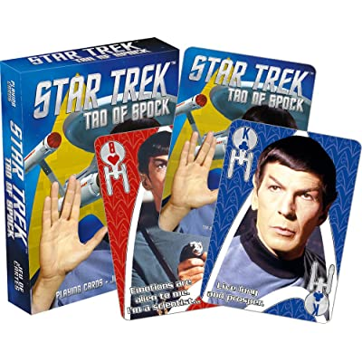 Aquarius Star Trek Tao of Spock Playing Card: Toys & Games