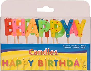 13 x Letra velas * Happy Birthday * para fiestas y ...