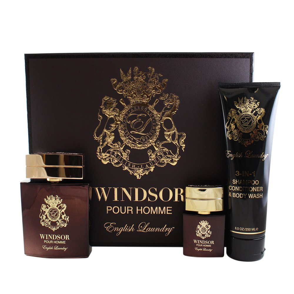 English Laundry Windsor Pour Homme Eau de Parfum Spray Fragrance Set, 13.6 oz.