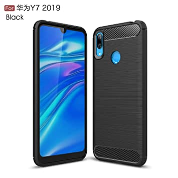 Gray Plaid Funda Huawei Y7 2019,Ultra-Delgado Lightweight ...