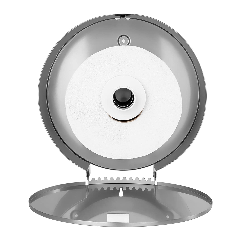 Silber f/ür Jumbo-Rollen, max. /Ø 260mm, inkl. Schl/üssel, Edelstahl Physa FOGGIA SILVER Toilettenpapierspender Toilettenpapierhalter