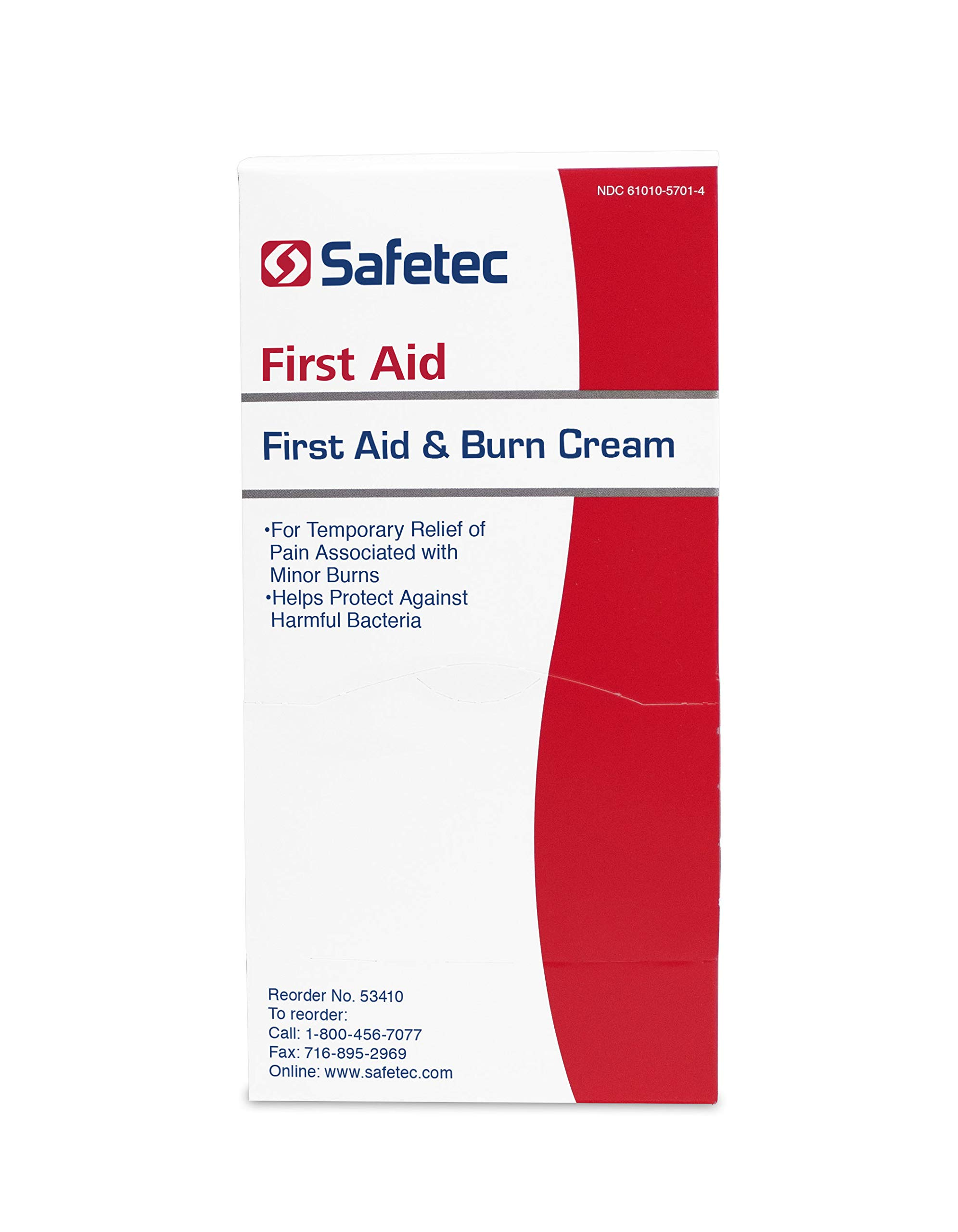Safetec First Aid Burn Cream .9 g. Pouch 144 ct. Box (4 Pack) by Safetec