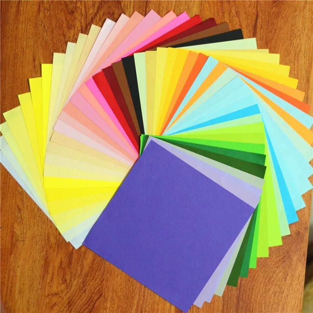 Origami,Papier origami 100 Feuilles Origami Set 50 Couleurs pour Projet Art and Craft 15x15CM Carr/é pour les Enfants et Adultes