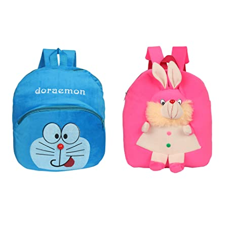 O Teddy Kids School Bag Nursery Picnic Carry Travelling Bag Soft Plush  Backpack School Bag for Kids- 2 to 5 Age - Pack of 2  Amazon.in  Bags