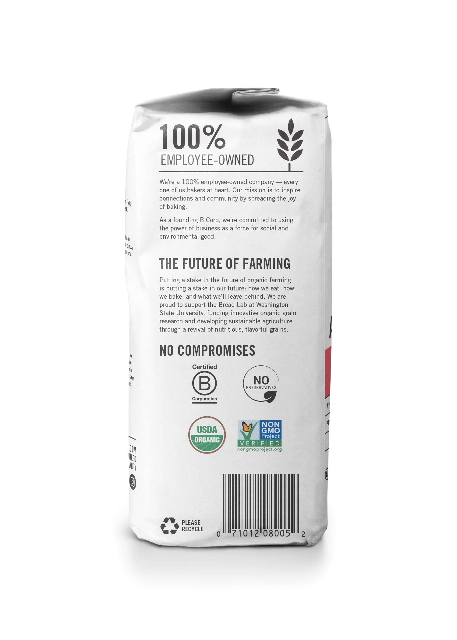 King Arthur Flour 100% Organic All-Purpose Flour, Unbleached, 2 Pound (Pack of 12) by King Arthur Flour (Image #4)