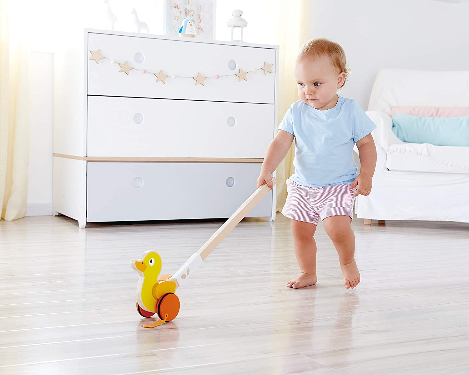 Hape Ducky Push Wooden Push /& Pull Toy E0357