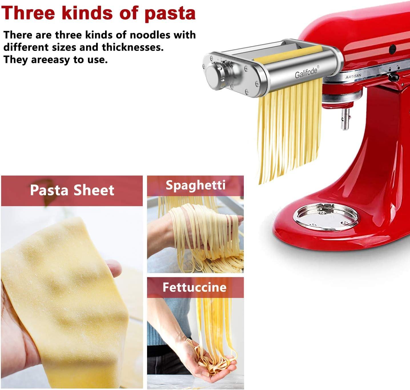 alpha-ene.co.jp Kitchen Pasta Maker Attachment 3 in 1 Metal Set ...