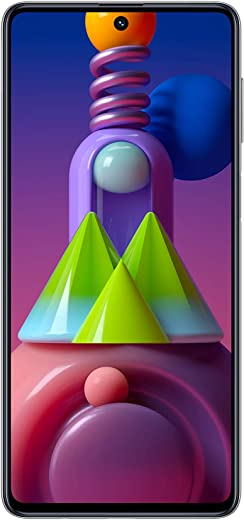هاتف سامسونج جالكسي ام 51 ابيض بشريحتي اتصال، ذاكرة رام 8 جيجا بايت، سعة تخزين 128 جيجا بايت - الجيل الرابع ال تي اي