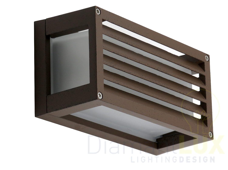 Treviso r applique per esterno rettangolare marrone diamantlux