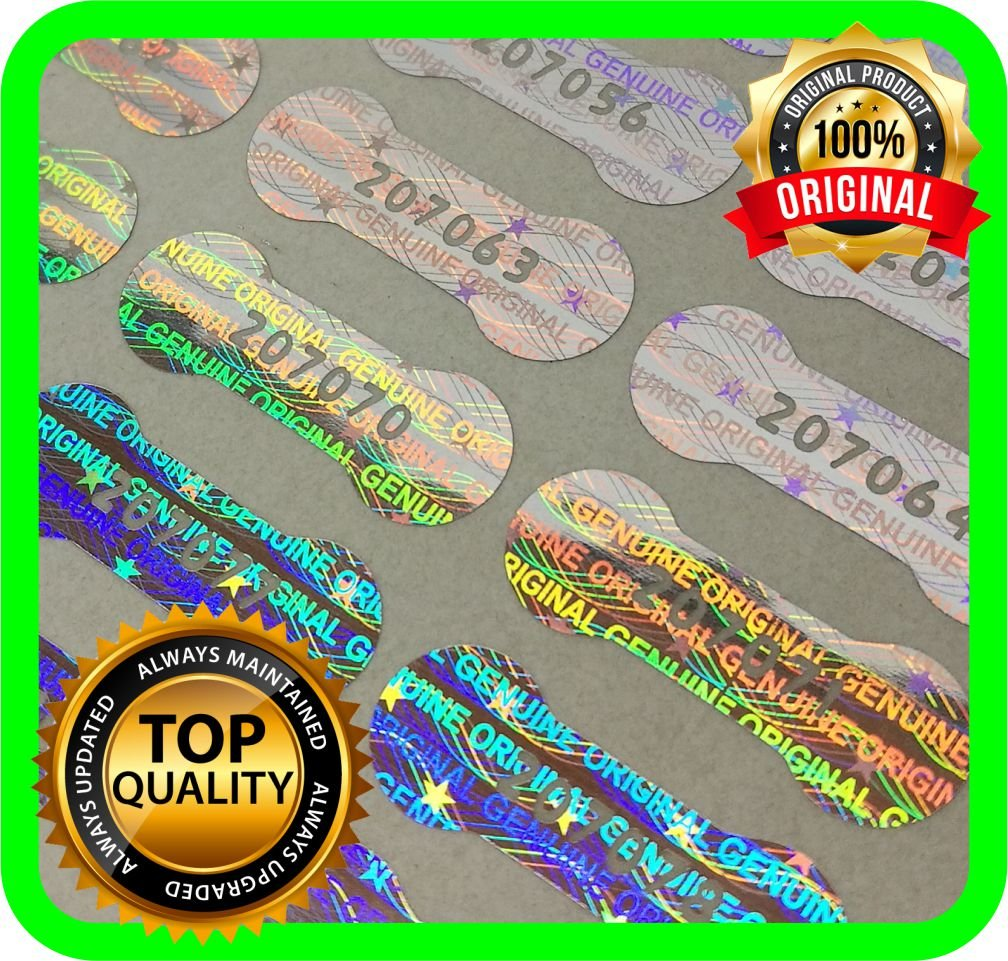 Holomarks 1150 pcs Security hologram labels, void warranty stickers tamper evident seals Dogbone with serial numbers .78 x .27 inches by Holomarks