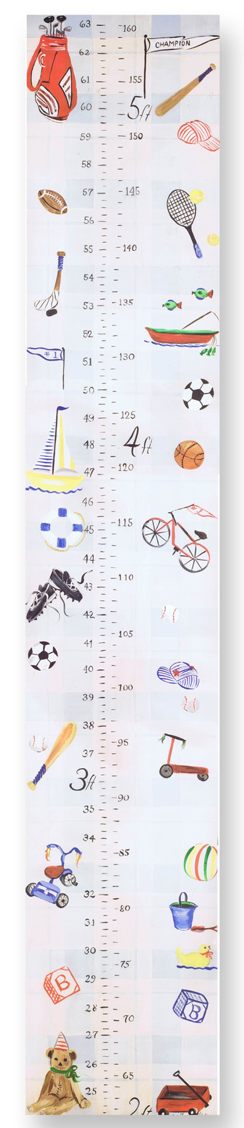 The Kids Room by Stupell Multi-Sport Growth Chart, 7 x 0.5 x 39, Proudly Made in USA by The Kids Room by Stupell