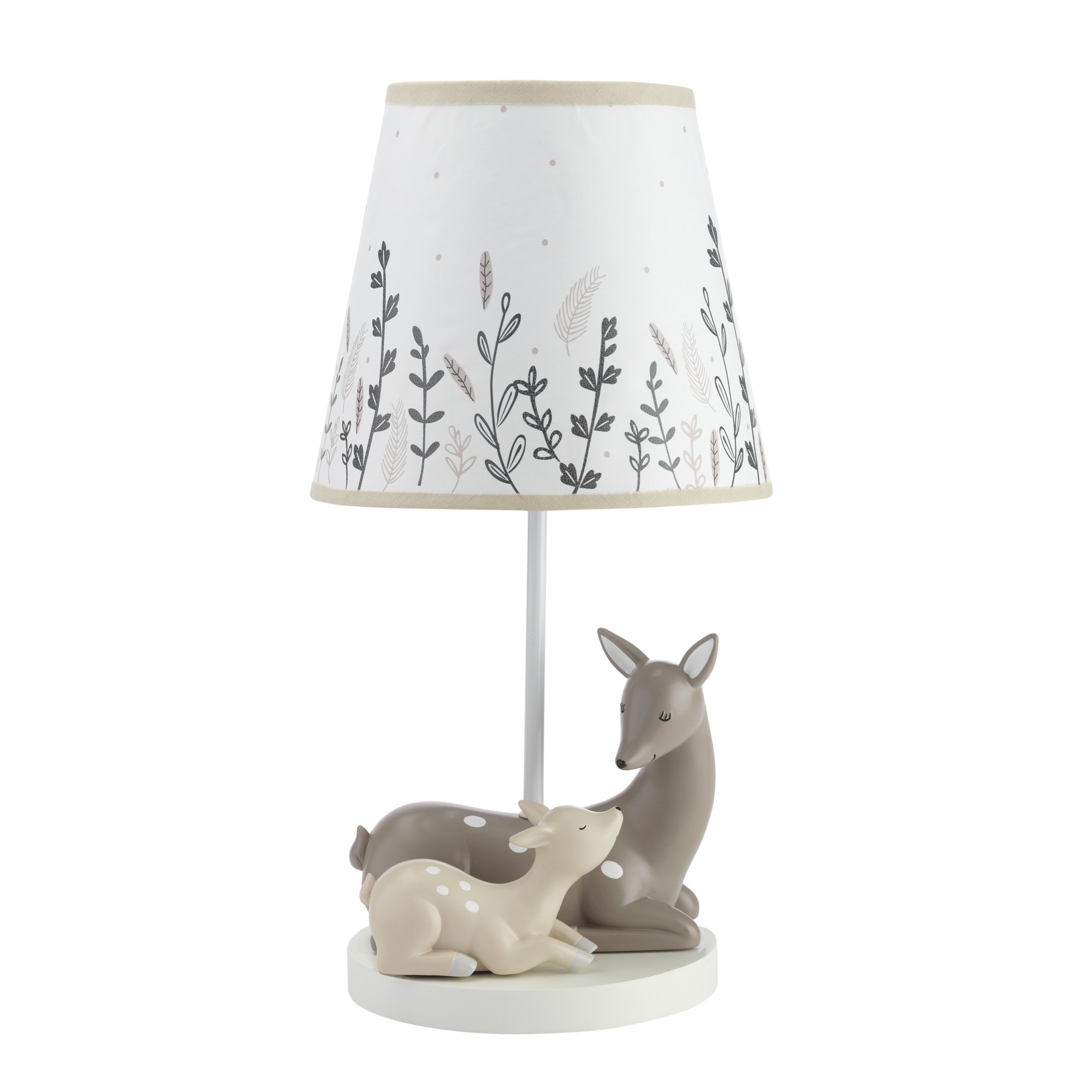 Lambs & Ivy Meadow Lamp With Shade & Bulb, Cream/White by Lambs & Ivy