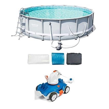 Amazon com: Bestway 16-Foot Frame Pool Set + Aquatronix Autonomous