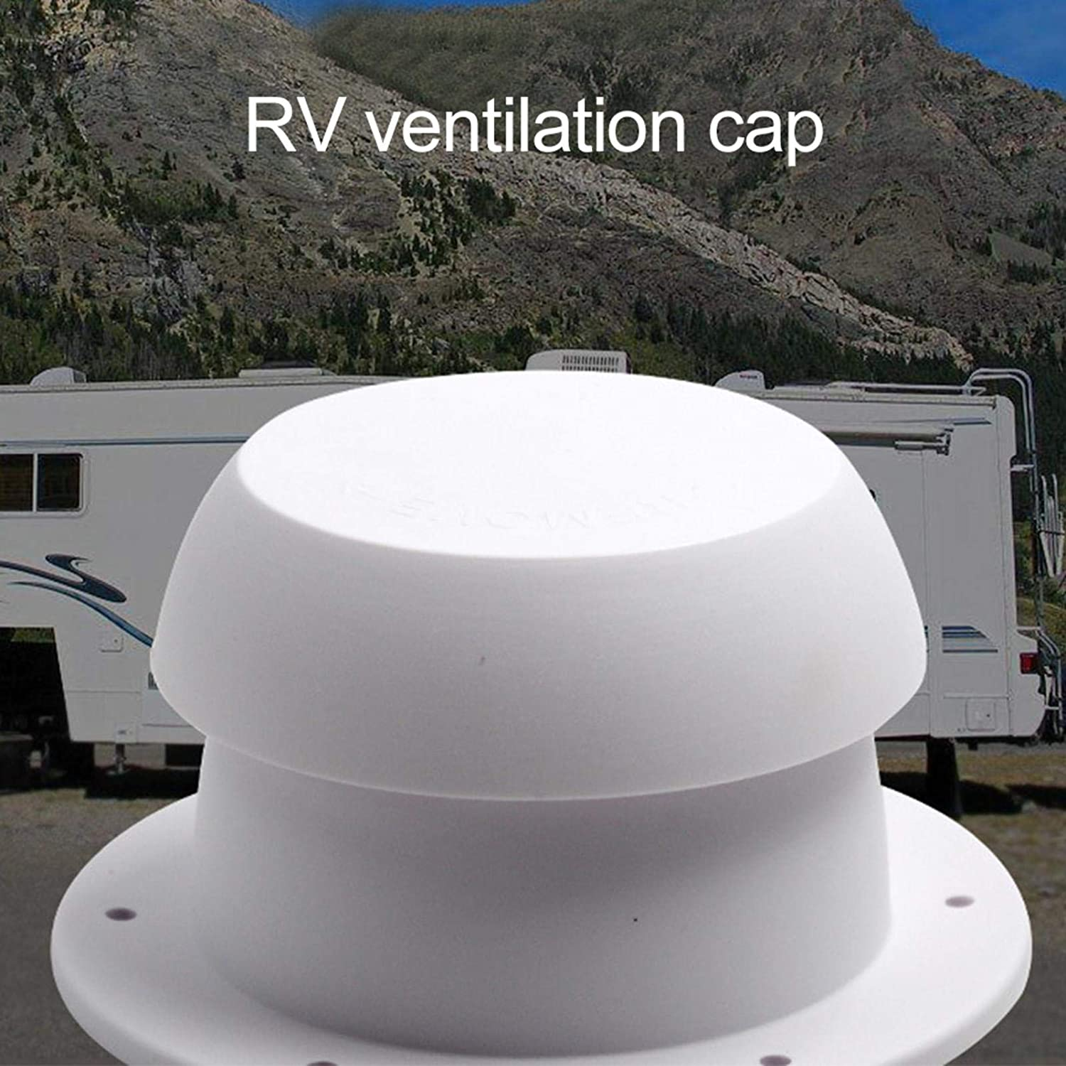 sdfsa Mushroom Head Shape Ventilation Cap for RV Accessories Top Mounted Waterproof Universal Replacement for Camper Trailer Motorhome