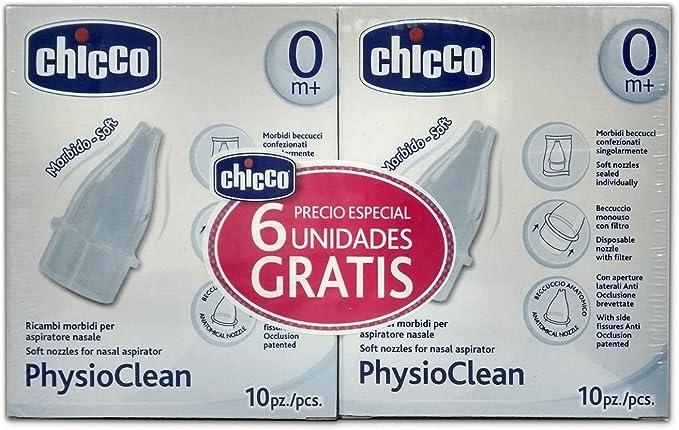 Recambios Aspirador Nasal Chicco Physioclean 10 Unidades + 10 ...