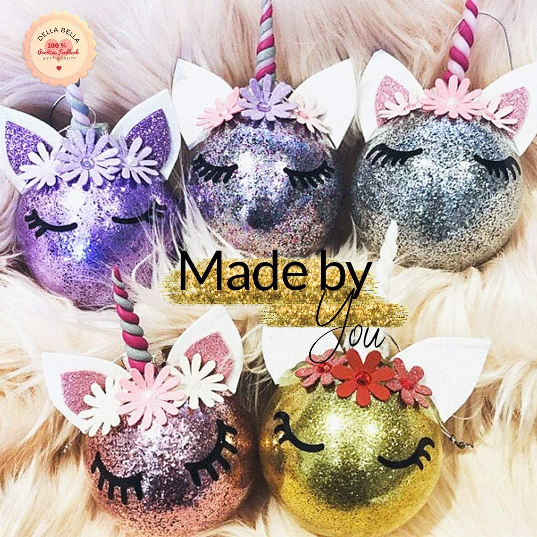 Black Gloss 1.5cm fiestas de ni/ños /álbumes de recortes y tarjetas 30 pares de pegatinas de unicornio para pesta/ñas ideal para bolas de Navidad