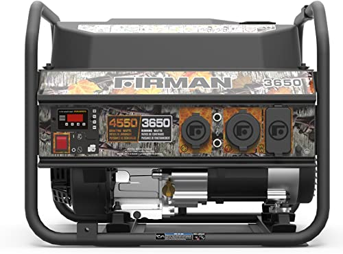 Firman P03609 4550 3650 Watt Recoil Start Gas Portable Generator cETL Certified with Camo Print, Black
