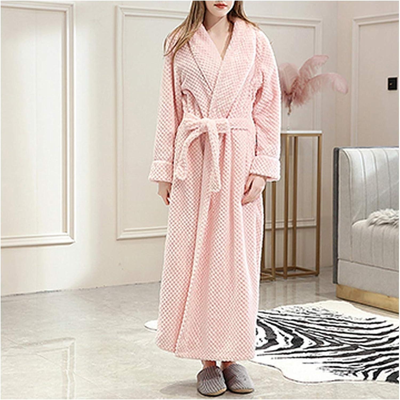 Women Loose Hooded Bathrobe Full Length Zip Front Long Hoodies Coat Sleepwear