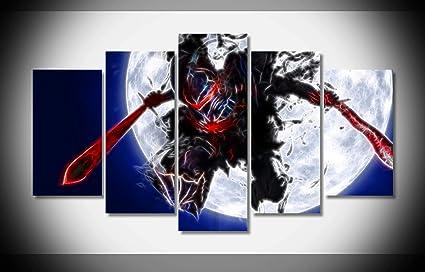 Amazon.com: Canvas Deco 5pcs Ninja Warrior Fractalious ...