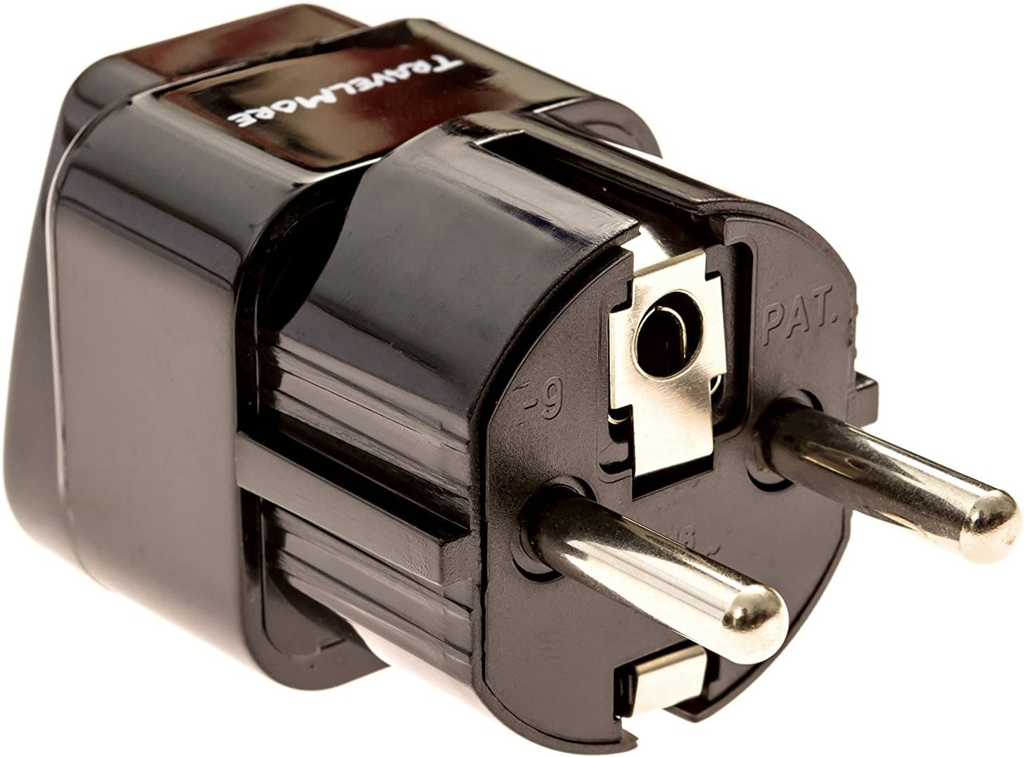 Europe Travel Adapter for European Outlets - Type C, Type E, Type F - Europe Plug Adapter Works in France, Spain, Germany, Netherlands, Belgium, Poland, Russia