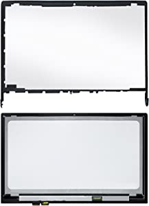 LCDOLED Compatible 15.6 inch LP156WF4 (SP)(L1) FullHD 1080P LED LCD Display Touch Screen Digitizer Assembly + Bezel Replacement for Lenovo Edge 15 80H1 80K9 80H10001US 80H1X002US 80H1000MUS