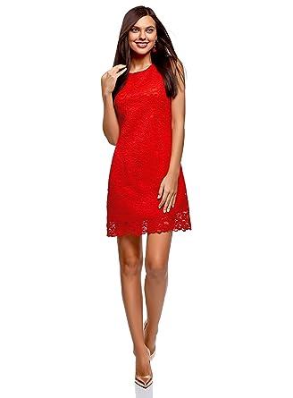 5f5066ff15e9 oodji Ultra Femme Robe en Dentelle  Amazon.fr  Vêtements et accessoires