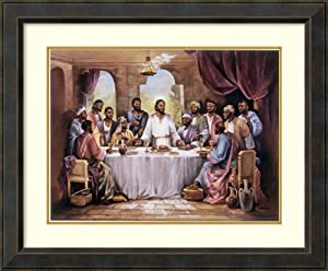 Framed Wall Art Print The Last Supper by Quintana 34.38 x 28.38 in.