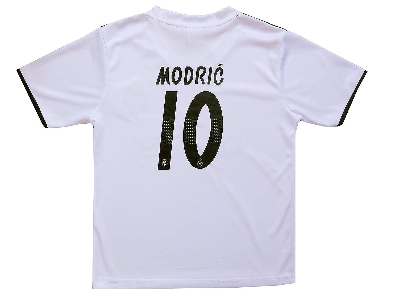 334a501c8 Amazon.com   GamesDur 2018 2019 Real Madrid Luka Modric  10 Home Football  Soccer Kids Jersey   Short   Sock   Soccer Bag Youth Sizes   Sports    Outdoors