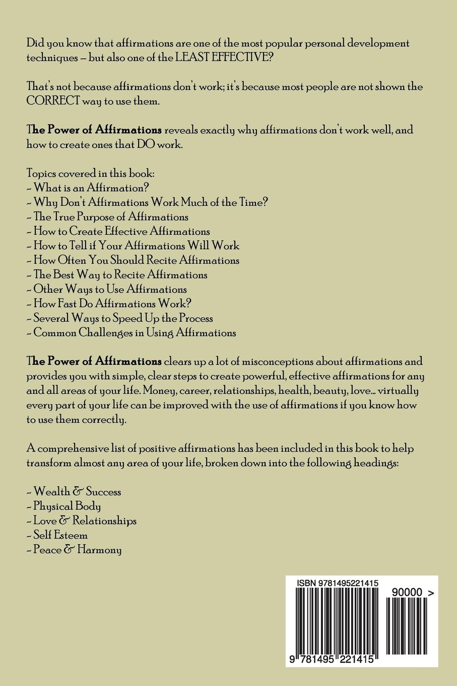 The power of affirmations 1 000 positive affirmations law of the power of affirmations 1 000 positive affirmations law of attraction in action volume 2 louise stapely 9781495221415 amazon books thecheapjerseys Gallery