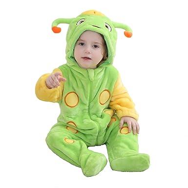 15efeed91001 Amazon.com  BabyPoem Unisex-baby Flannel Romper Animal Onesie ...