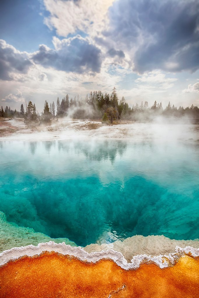 West Thumb Geyser Basin Yellowstone National Park Photo Art Print Framed Poster 14x20 inch Poster Foundry 149991