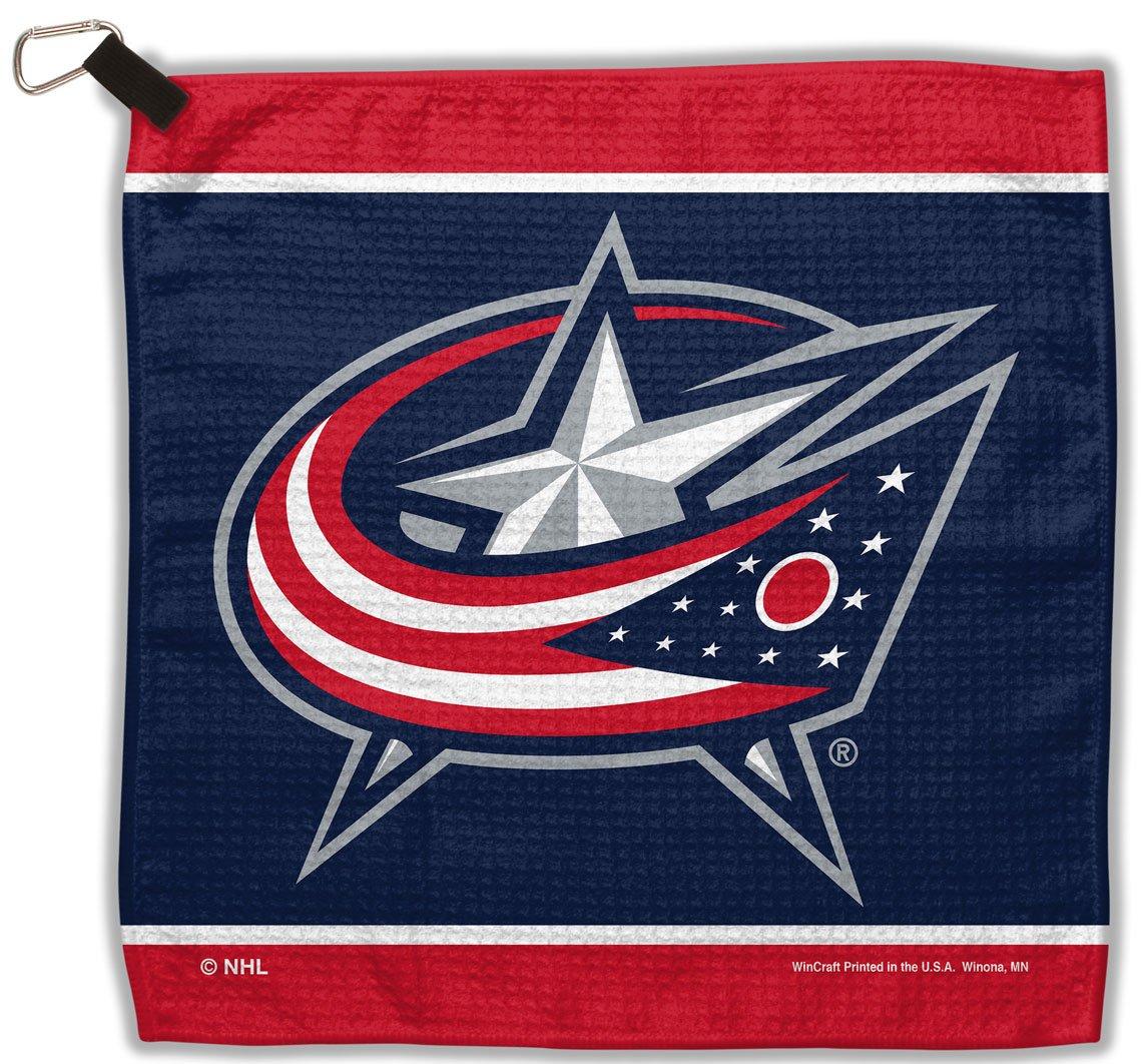 NHL コロンバス ブルージャケット ワッフルゴルフタオル ループとカラビナ付き 13 x 13インチ   B01AXIMY70